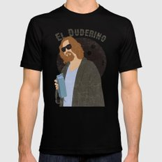El Duderino MEDIUM Black Mens Fitted Tee