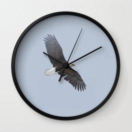 Soaring - Bald Eagle and Blue Sky Wall Clock