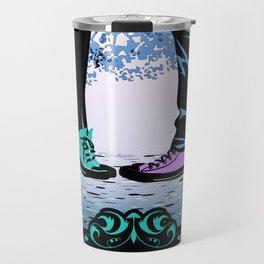 Couple Love massage texture Travel Mug