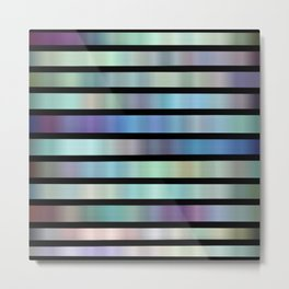Stripes have the blues digital abstract  Metal Print