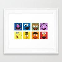 sesame street Framed Art Prints featuring Sesame Street  by Jconner