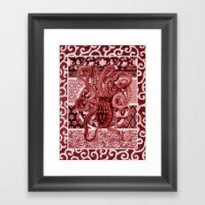 Aka Tako (Red Octopus) Framed Art Print