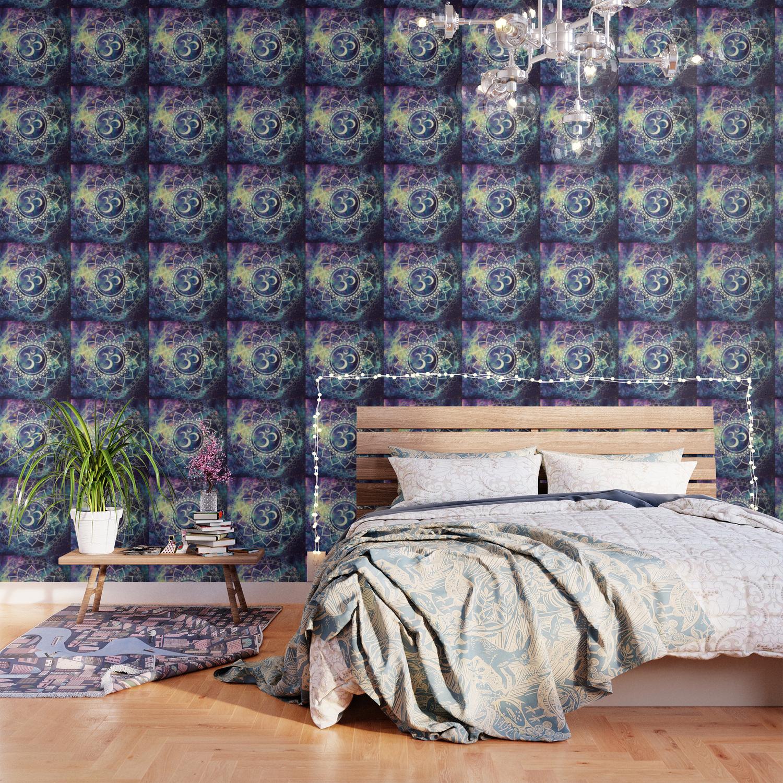 om mandala deep pastels galaxy wallpaper