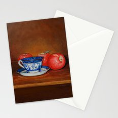 Teacup with Three Apples Stationery Cards
