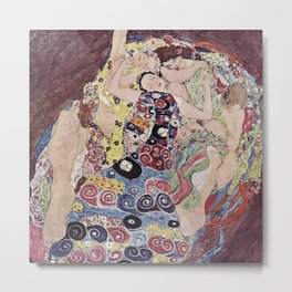 Gustav Klimt - The Maiden Metal Print