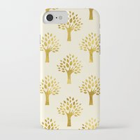 gold foil iPhone & iPod Cases featuring Cream Gold Foil 02 by Aloke Design