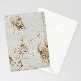 Horse sketches - Leonardo Da Vinci Stationery Cards