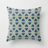 art deco Throw Pillows featuring Art Deco by MartaBerk