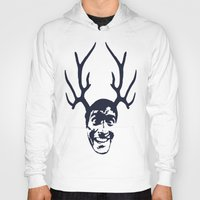 evil dead Hoodies featuring Deer Ash - Evil Dead by Iamzombieteeth Clothing