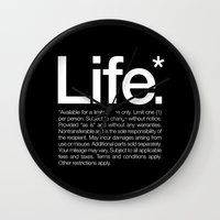 poster Wall Clocks featuring Life.* Available for a limited time only. by WORDS BRAND™