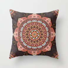 A Cosmic Flowering Throw Pillow