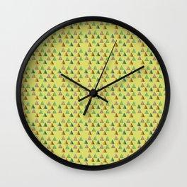 Mini Triangles Pattern Wall Clock