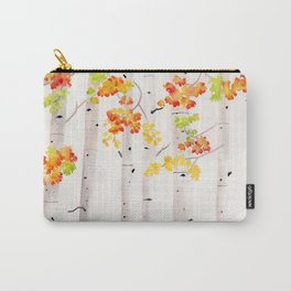 Autumn Birch Song Carry-All Pouch