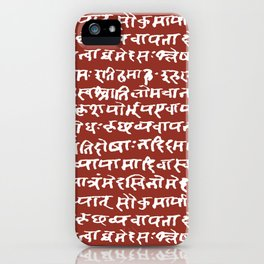 Sanskrit // Burnt Umber iPhone Case