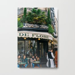 Paris Cafe V Metal Print