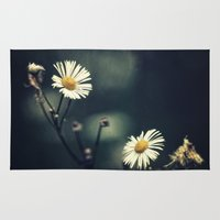 daisy Area & Throw Rugs featuring Daisy by Pascal Deckarm Fine Art