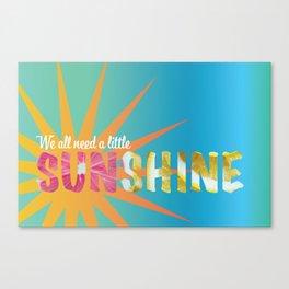 A Little Sunshine Canvas Print