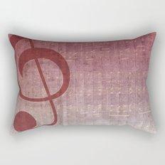 Red Pink Grunge Music Sounds Rectangular Pillow