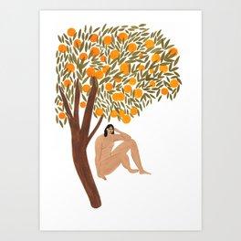 Sous l'Oranger Art Print