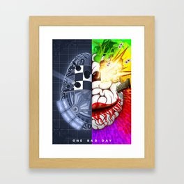 One Bad Day Framed Art Print