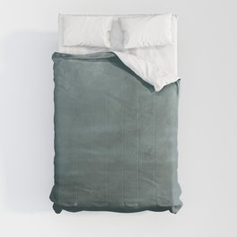Cool Tropical Blue-Green Abstract Watercolor Blend 2021 Color of the Year Aegean Teal 2136-40 Comforters