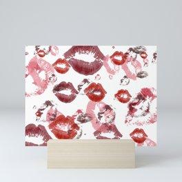 Kisses pattern Mini Art Print