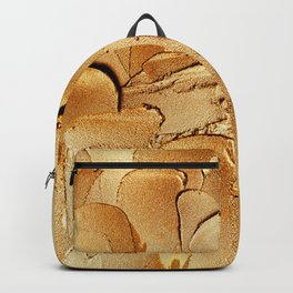 Gold Acryl Thick Metal Stripes Backpack