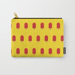 Red Popsicles - Yellow Background Carry-All Pouch