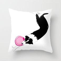 Disc Dog - Border Collie Throw Pillow