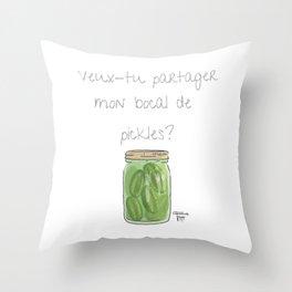 Domaine Coquelicots Throw Pillow
