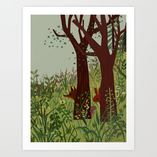 In Hiding Art Print