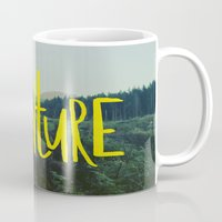 adventure Mugs featuring Adventure by Leah Flores