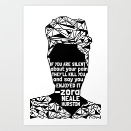 ZNH - If You Are Silent - Black Lives Matter - Series - Black Voices Art Print