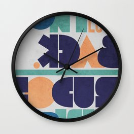 Don't Look Back! Wall Clock