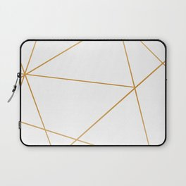 geometric gold and white Laptop Sleeve