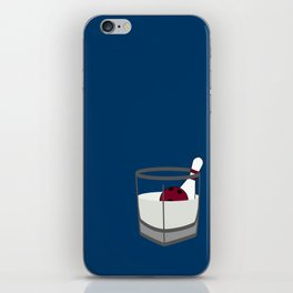Hey, careful, man, there's a beverage here!  iPhone Skin