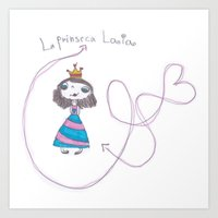 laia Art Prints featuring princesa laia by mondebettina