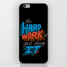 The Hard Work of Just Doing it. iPhone & iPod Skin