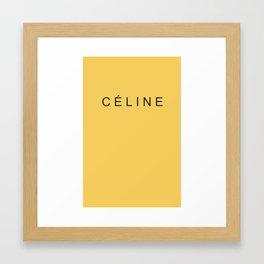 CÉLINEback&lightgold Framed Art Print