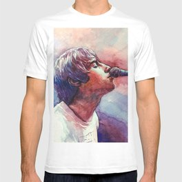 Liam Gallagher Watercolor Painting T-shirt