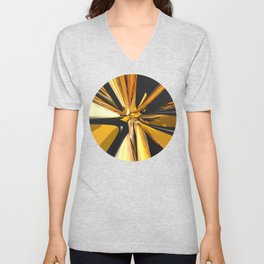 Black And Gold 3D Abstract Unisex V-Neck
