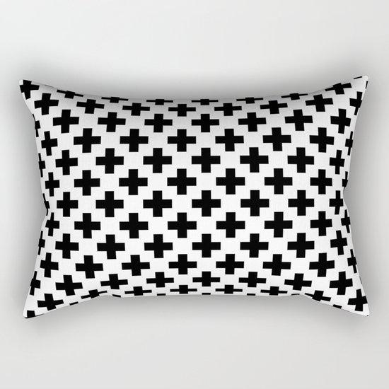 Plus Black & White Rectangular Pillow