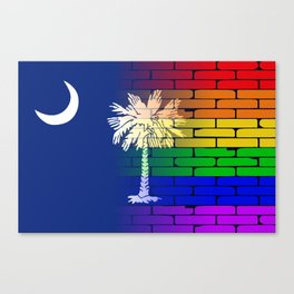 Rainbow Wall South Carolina Canvas Print