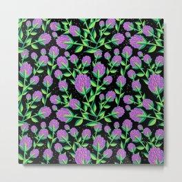 Swirly Flowers Metal Print