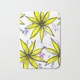 Spring yellow daisies Bath Mat