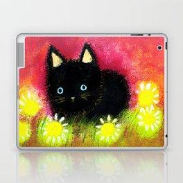 Black kitten Laptop & iPad Skin