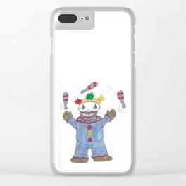 Creepy Twisty Clown Clear iPhone Case