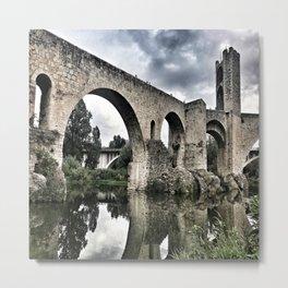 The Bridge of Besalu Metal Print