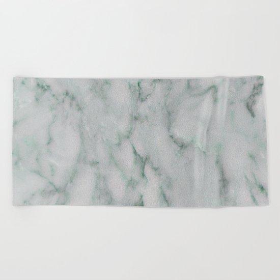 Ariana verde - smoky teal marble Beach Towel