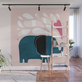 Little Blue Elephant Wall Mural